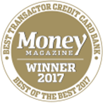 Money Magazine Winner 2017 Best Transactor Credit Card Bank