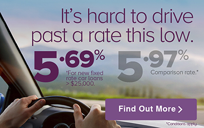 Low Rate Car loan. it's hard to drive past a rate this low.