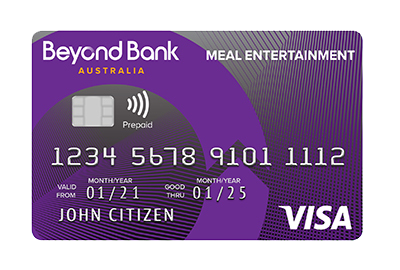 meal entertainment card